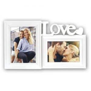 portafotos de amor blanco