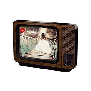 Marco para fotos original forma de televisión tv