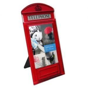 Marco de fotos original forma cabina inglesa