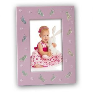 Marco para fotos de niñas color rosa