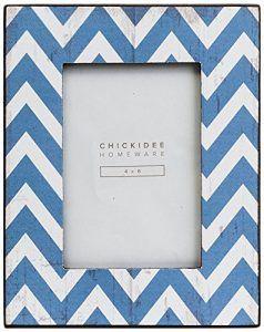 marco para fotos azul zigzag