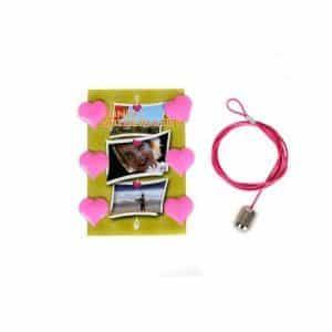 Cable de acero para colgar fotos con imanes
