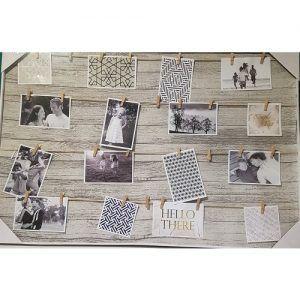 marco para colgar fotos con pinzas