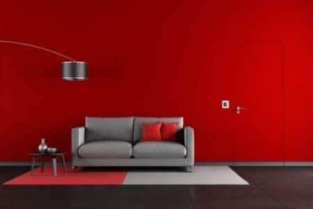 decoracion color rojo marcos para fotos rojos