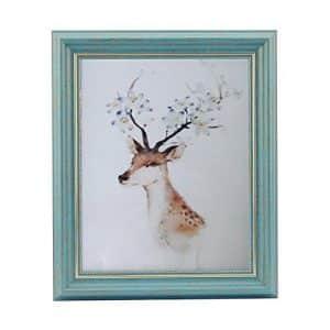 marco de fotos para pared y mesa estilo vintage idea de regalo color azul